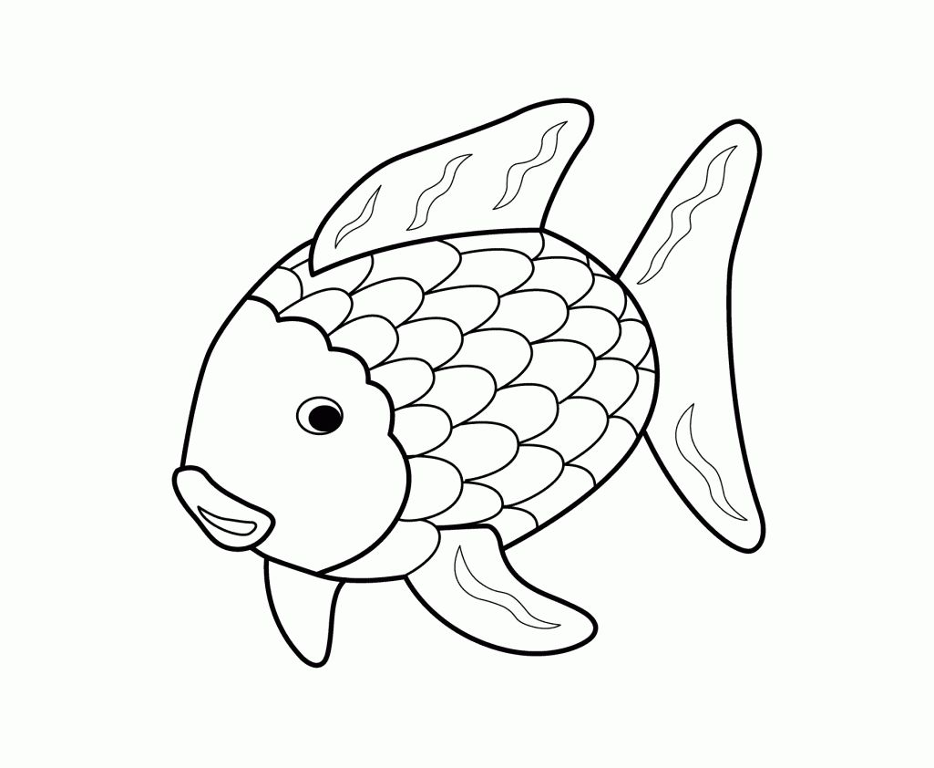 Printable 17 Rainbow Fish Coloring Pages 5144.