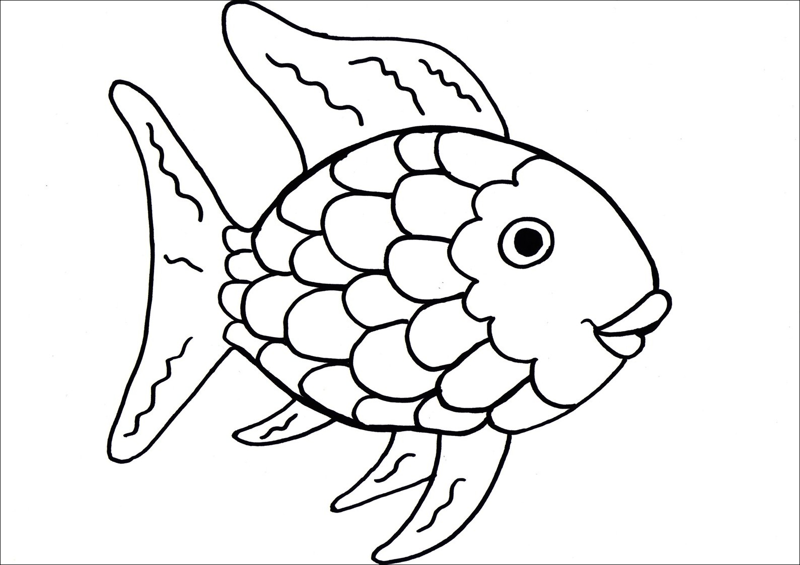 Free Rainbow Fish Clipart Black And White, Download Free.
