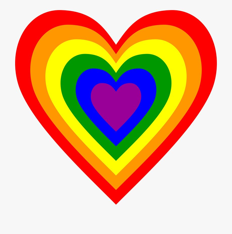 28 Collection Of Rainbow Heart Clipart.