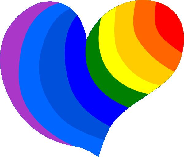 Rainbow Heart Clip Art at Clker.com.