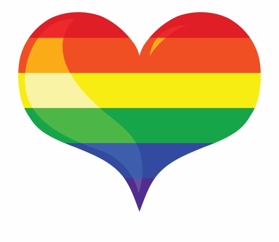 Multi Layered Rainbow Heart Vector Image Free Rainbow.