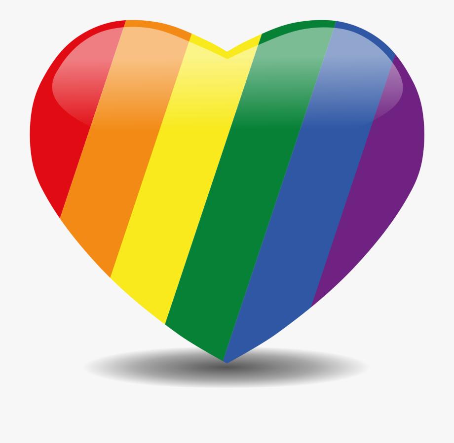 Clip Art Free Stock Rainbow Heart Clipart.