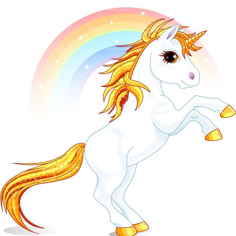 Unicorn With Rainbow Clipart.