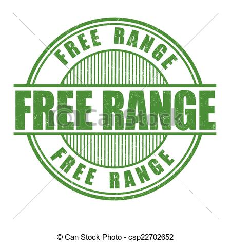 Clipart Vector of Free range stamp.