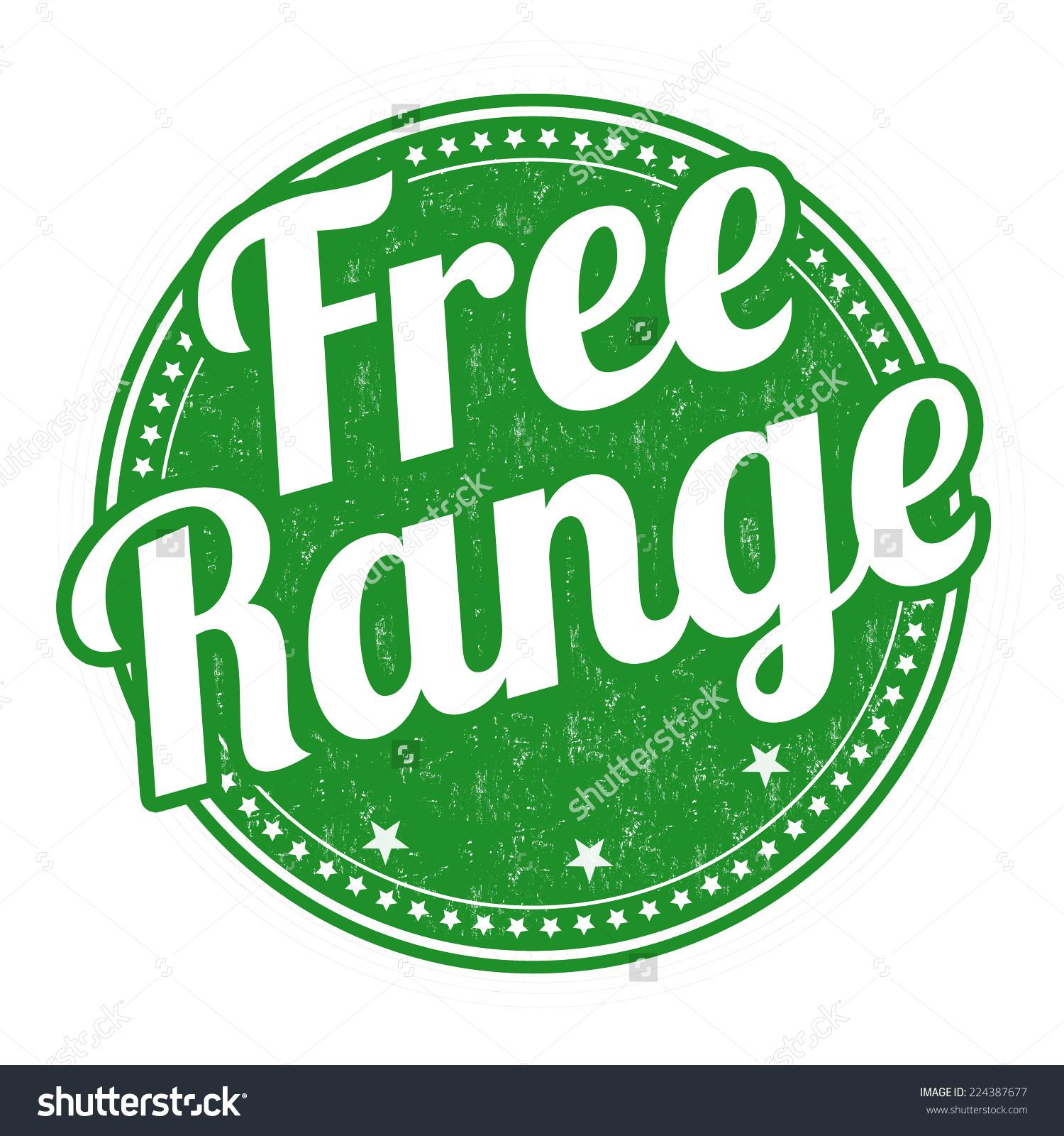 Free Range Grunge Rubber Stamp On Stock Vector 224387677.
