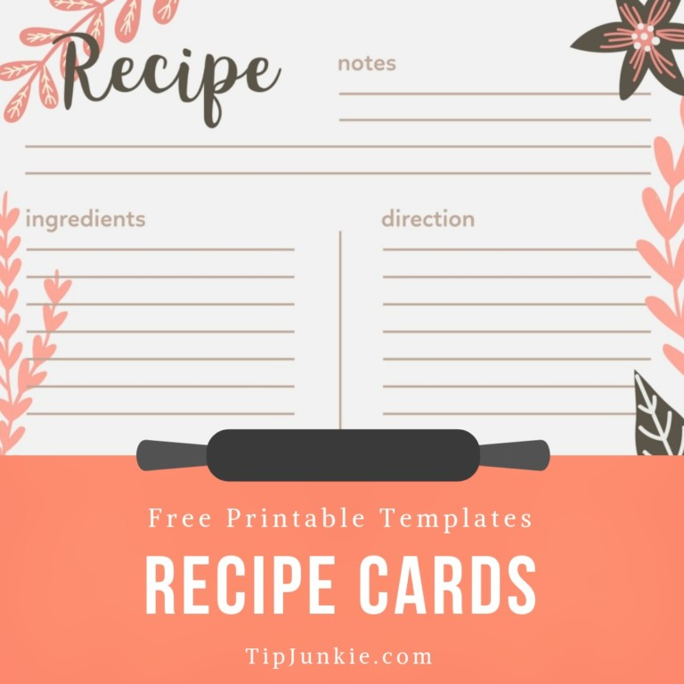 free printable editable recipe cards.