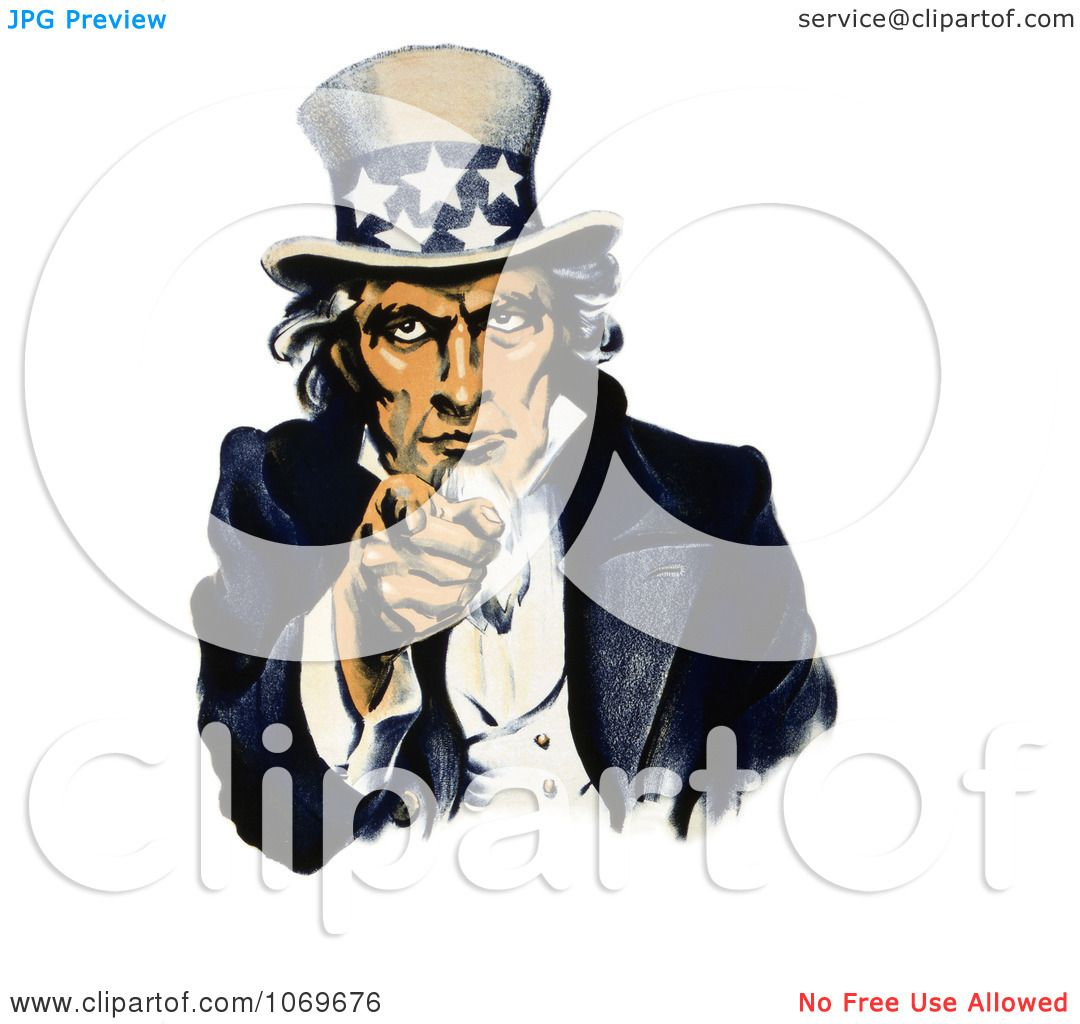 Clipart Of Navy War Recruiting Uncle Sam Pointing His Finger.