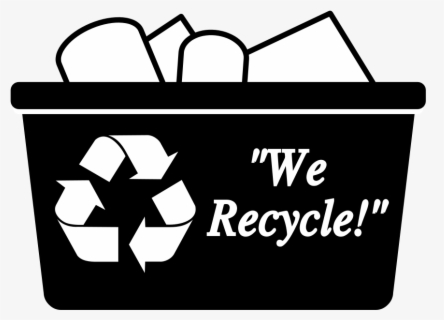 Free Recycle Black And White Clip Art with No Background.