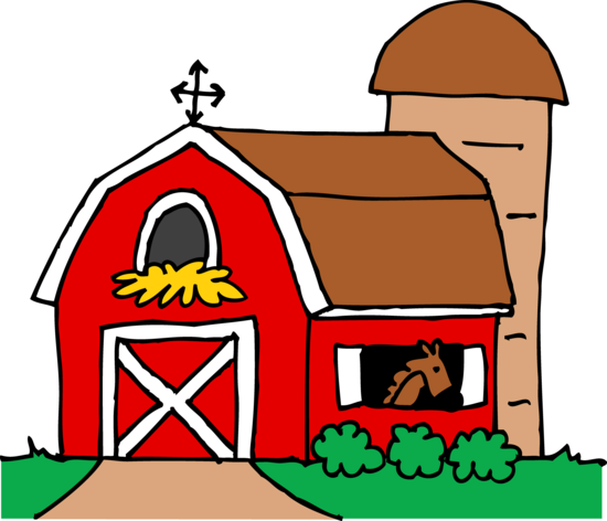 Little Red Barn Clipart.