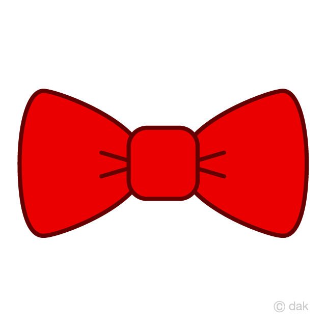 Free Red Bow Tie Clipart Image|Illustoon.
