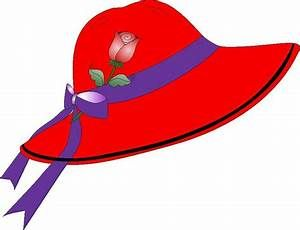 Red Hatters Hat Clipart.