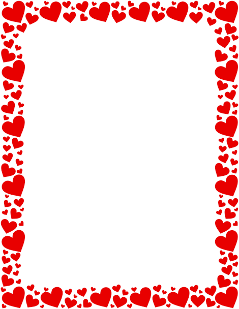 Printable red heart border. Free GIF, JPG, PDF, and PNG downloads.