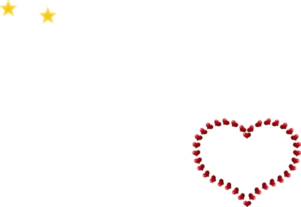 Red Heart Shaped Border With Little Hearts clip art Free vector in.