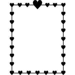 heart clipart borders.