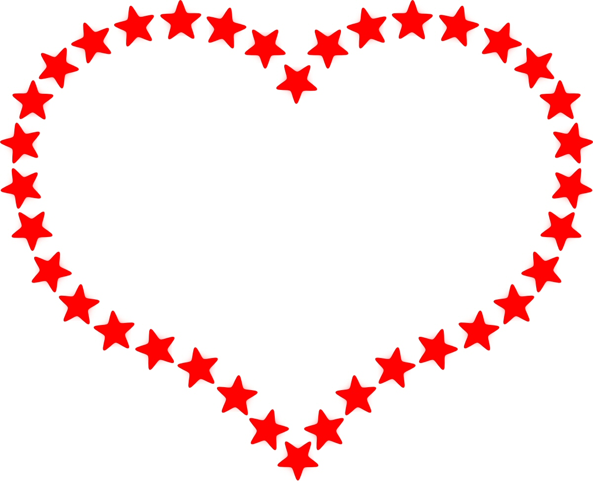 free red heart outline border clipart clipground