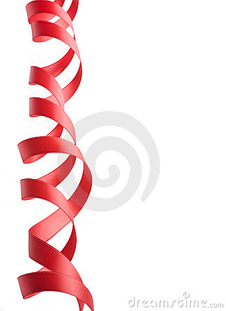 Red Ribbon Border Stock Image.