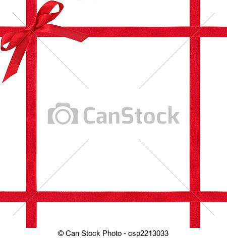 Free Red Ribbon Border Clipart.