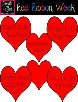 Red Ribbon Week {Clipart}.
