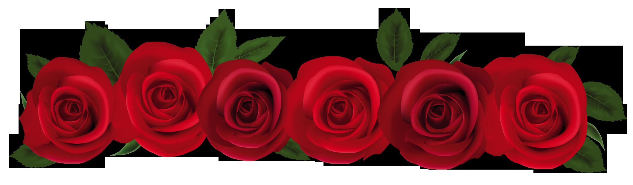 rose border clip art free.
