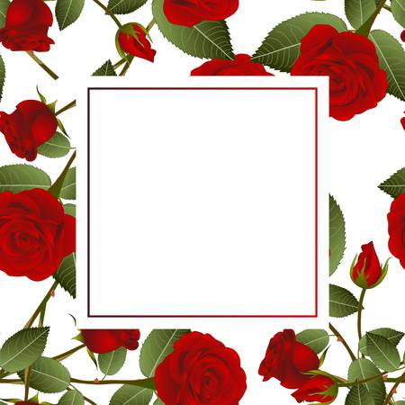 7,603 Red Rose Border Stock Vector Illustration And Royalty Free Red.
