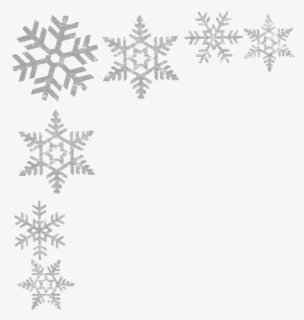 Free Snowflakes Border Clip Art with No Background.