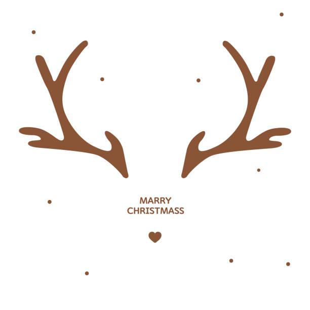Best Reindeer Antlers Illustrations, Royalty.