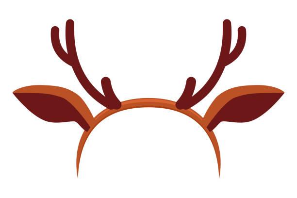 Best Costume Reindeer Antlers Illustrations, Royalty.