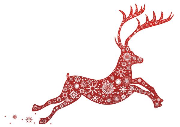 Reindeer Clipart Border.