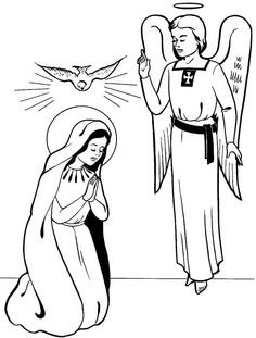 Free Religious Archangel Gabriel Christmas Clipart.