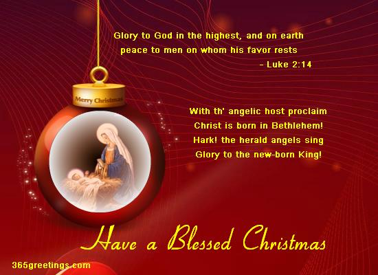 Christian Christmas Wishes and Christian Christmas Card Wording.