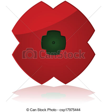 EPS Vector of Poppy flower icon.