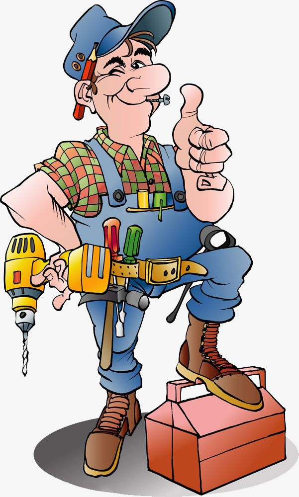 Cartoon Repairman, Cartoon Clipart, Than Thumb, Cartoon.