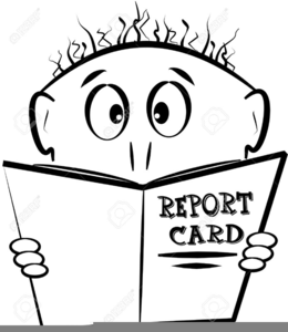 Good Report Card Clipart.