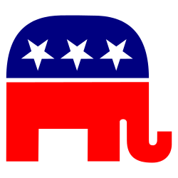 red,white,blue elephant free clip art.