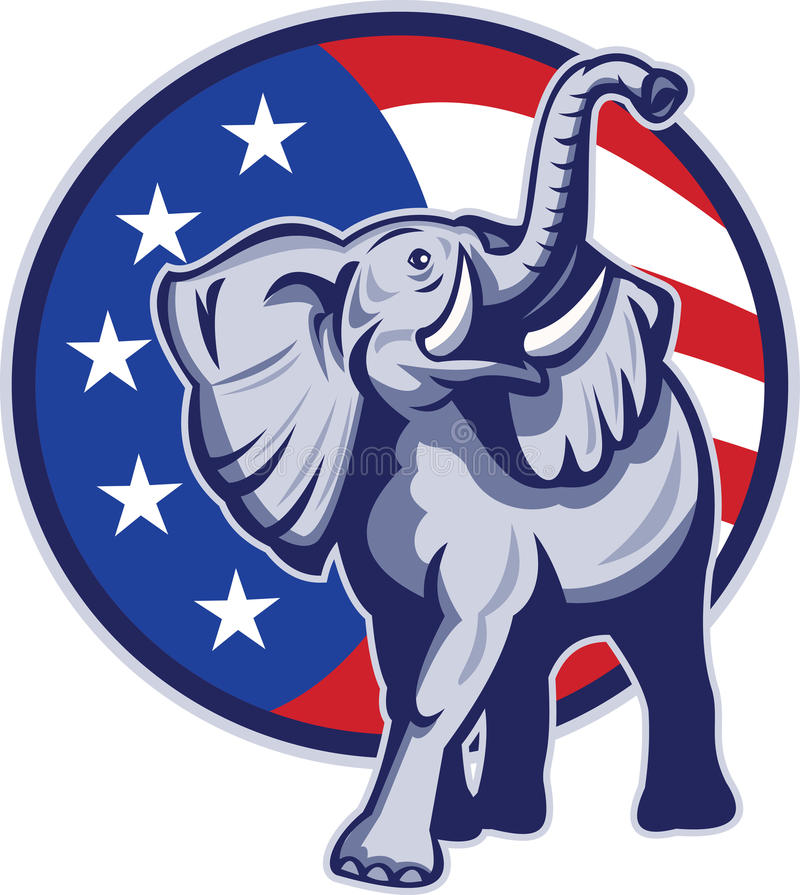 Republican Elephant Stock Illustrations.