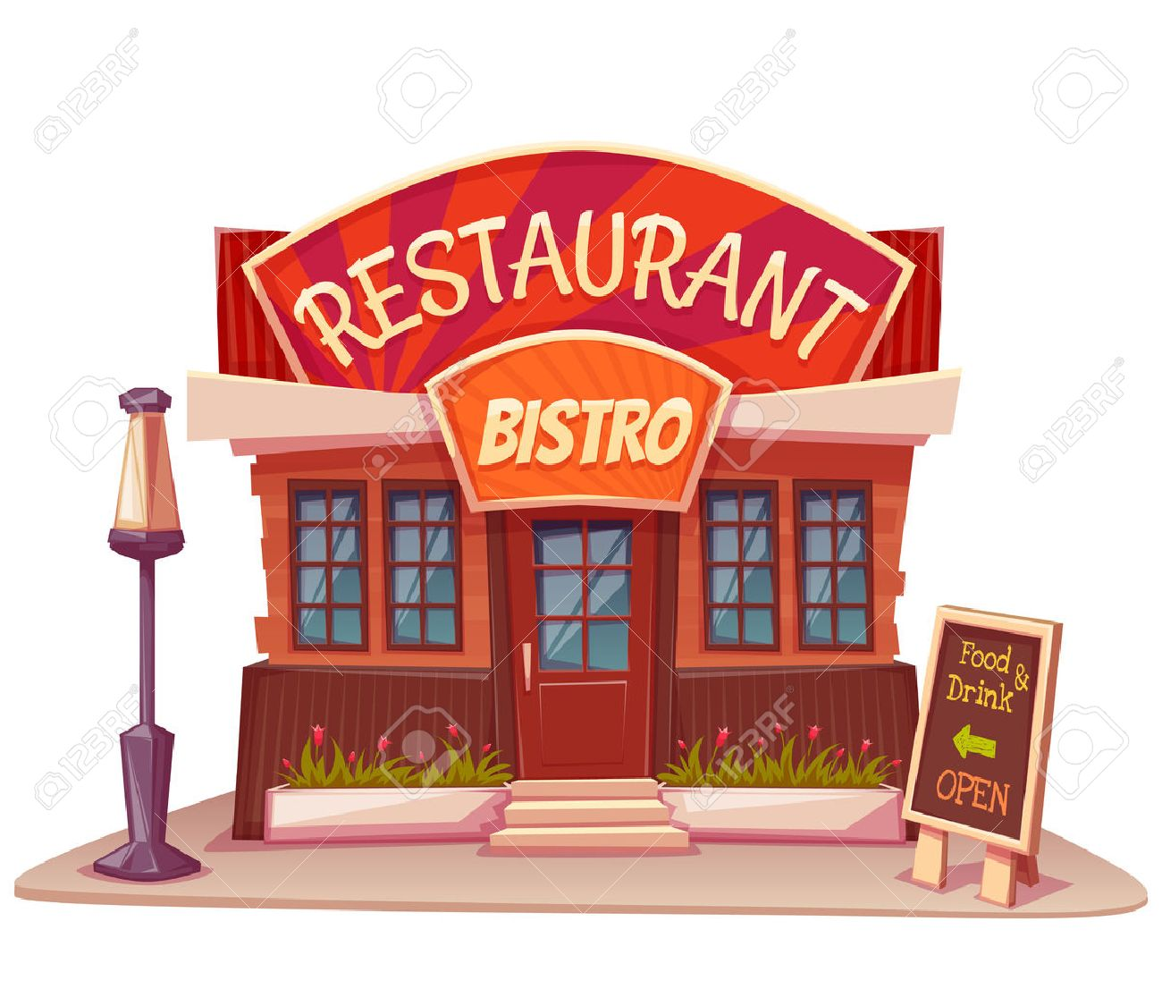 7,815 Restaurant Exterior Cliparts, Stock Vector And Royalty Free.