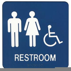 Clipart Restroom Sign.