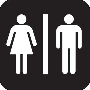 Men Women Bathroom 2 clip art.