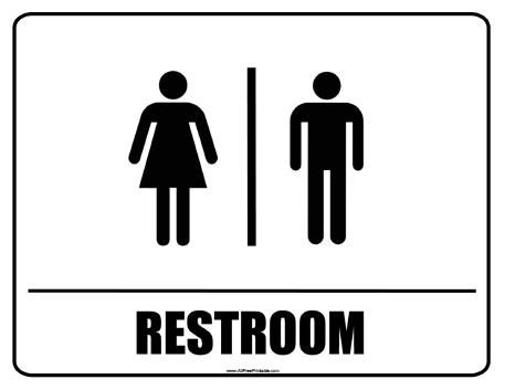 Free Printable Restroom Sign.