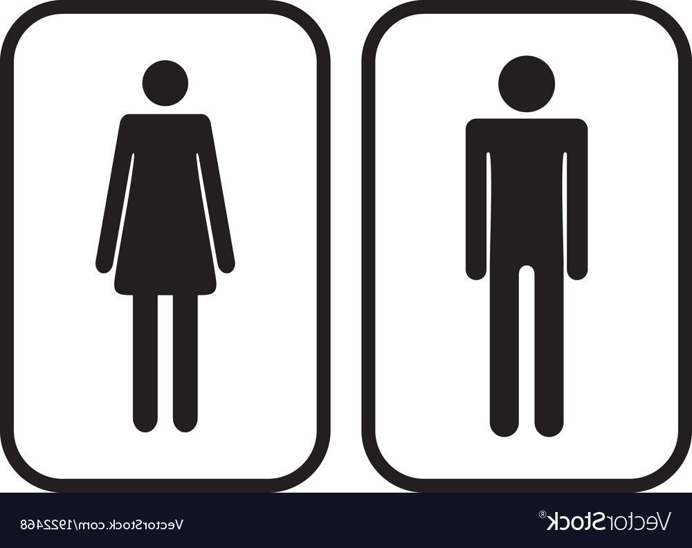 Unique Bathroom Symbol Vector Design ~ Vector Images Design.