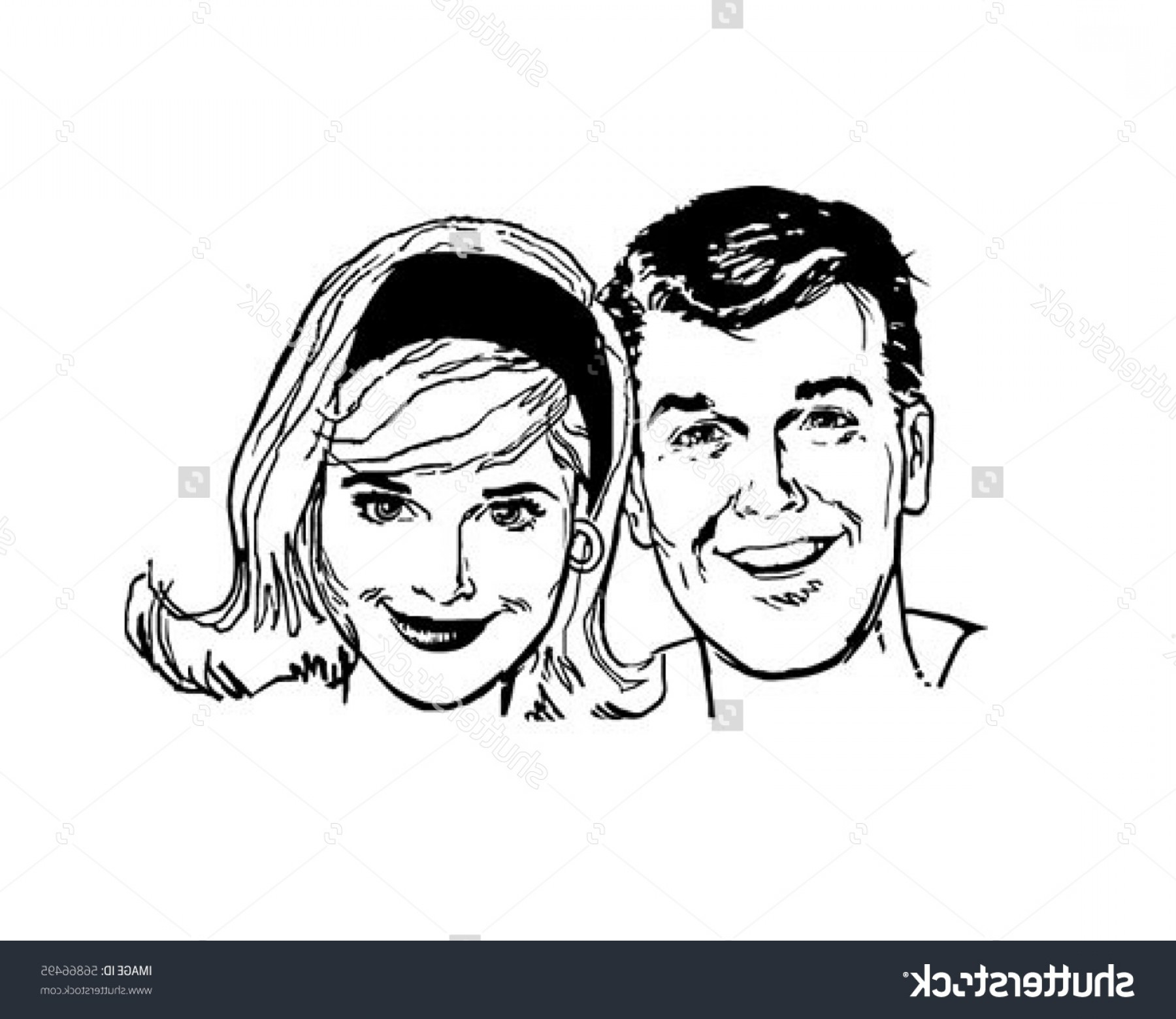 Free Stock Vector Retro People Clip Art Layout.