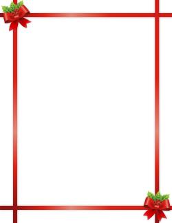 Christmas Ribbon Border ….