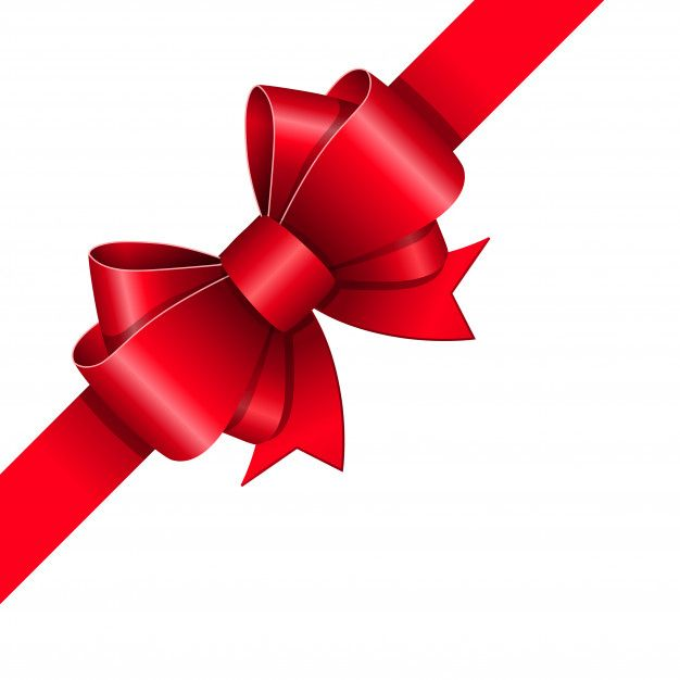 Red ribbon bow Free Vector Red is our favorite color! Red.