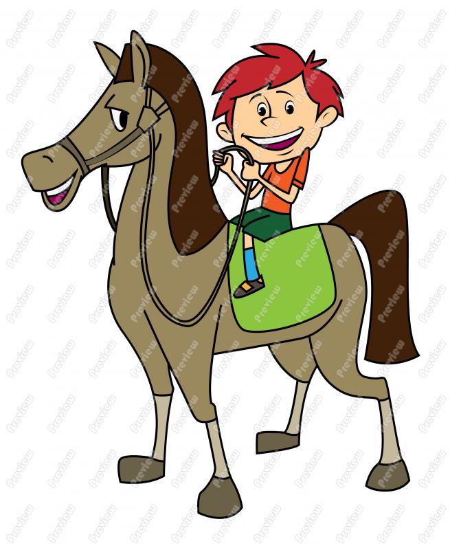 Ride a horse clipart.