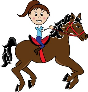 Horseback Trail Riding Clipart.