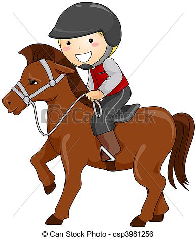 clipart of child and horse #9