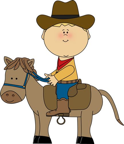 Free Clipart Boy Riding On Horse.