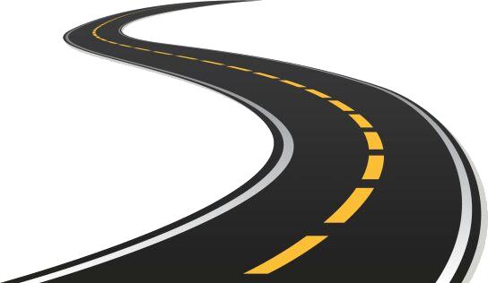 Road curve Clip art.