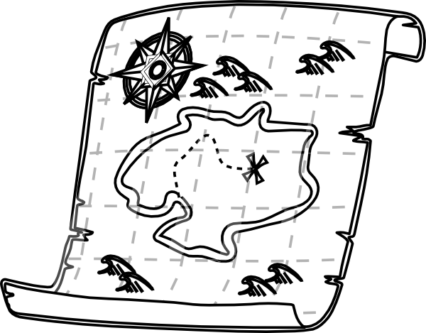 Road Map Clipart Black And White.