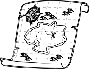 Free Black And White Clipart Of Road Map.